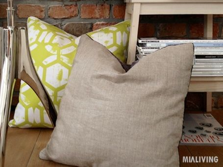 Aranżacje MIALIVING #pillows #honeycombs #linen