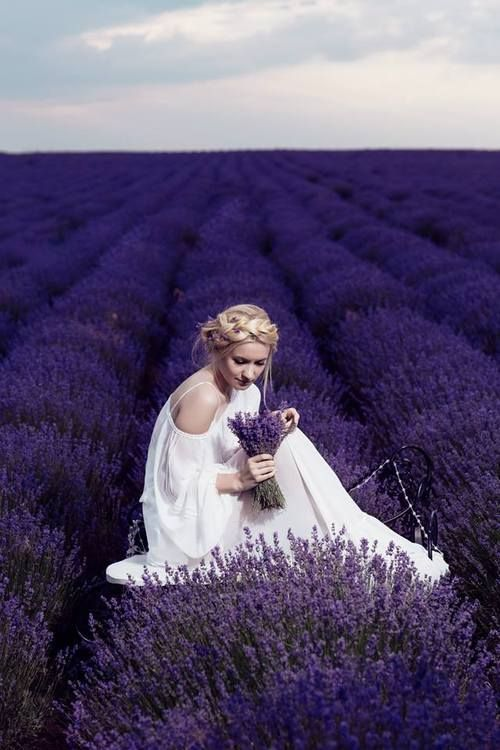 what an amazing wedding photo this would be in a lavender field! ~  we ❤ this! moncheribridals.com