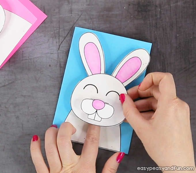 Easter Bunny Card Easy Peasy And Fun Easter Bunny Cards Pop Up Card Templates