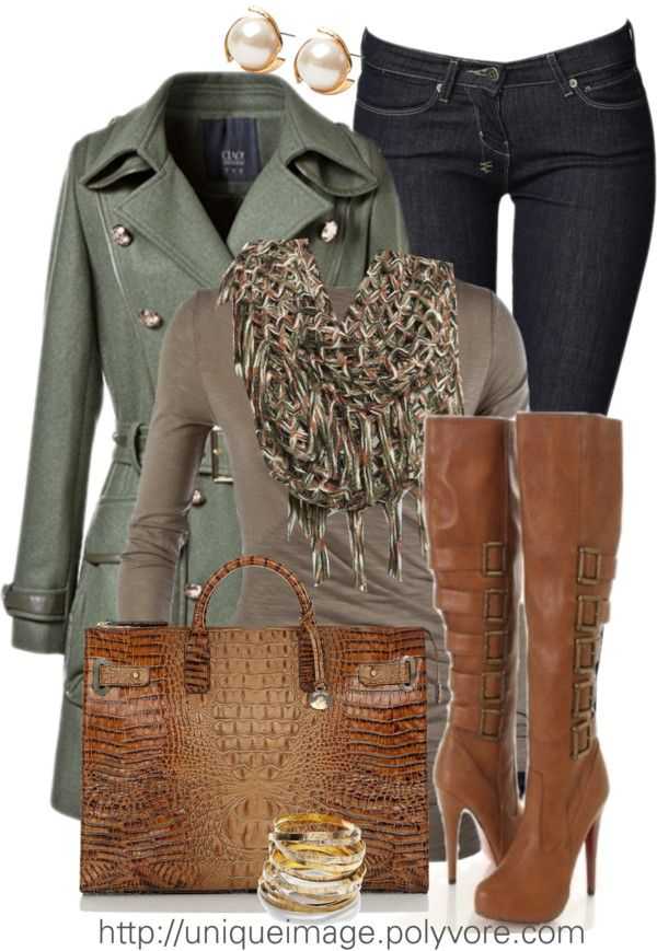 Would want shorter healed boots, but otherwise this is nice.  I love green and brown.