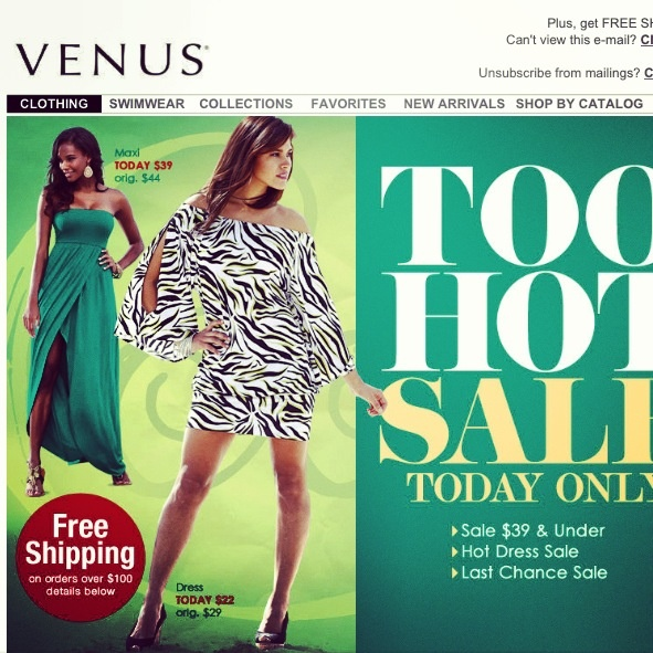 Deal Alert (US/CDN): Venus Too Hot Sale 1 Day Only $39 and Under. Happy Shopping! #deal #alert #venus #toohotsale #shopping #clothing #women #fashion