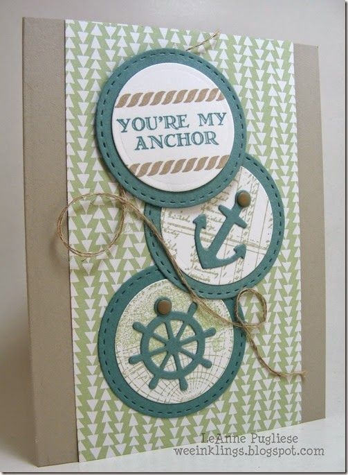 LeAnne Pugliese WeeInklings You're My Anchor Stampin Up