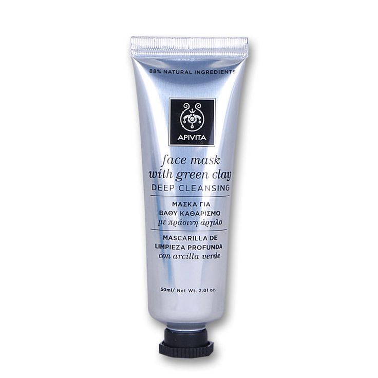 Apivita Deep Cleansing Face Mask  with Green Clay, 50ml