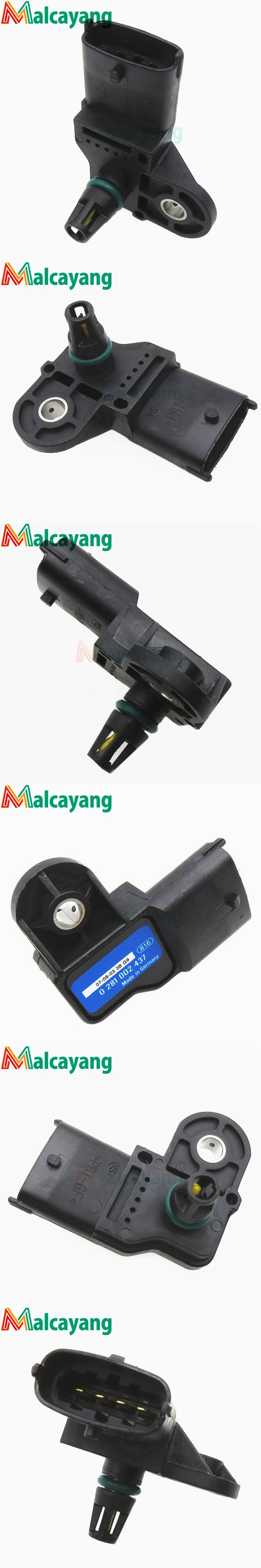 3 Bar Original Boost Map Sensor For Peugeot Boxer Bipper Citroen Nemo 1.2 1.3 Hdi Ford Ranger 2.5 3.0 TDCi 1920.SS 1636.61