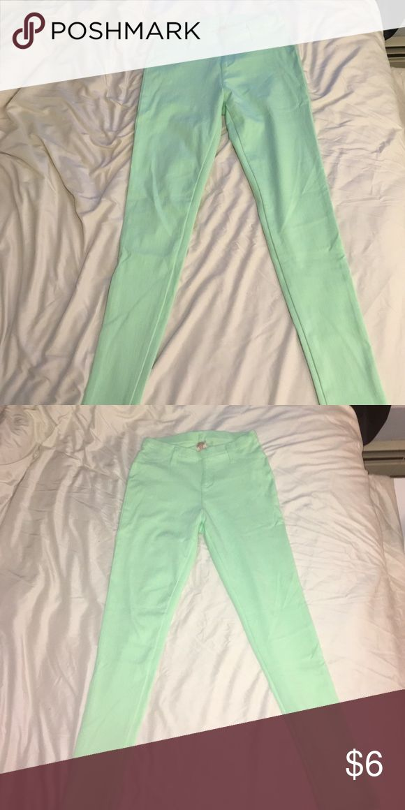 Mint green pants Soft material, mint green, perfect for spring! Faded Glory Pants Skinny