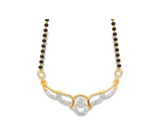 Beautiful real diamond mangalsutra designs 40094N from KISNA. #diamond #jewellery