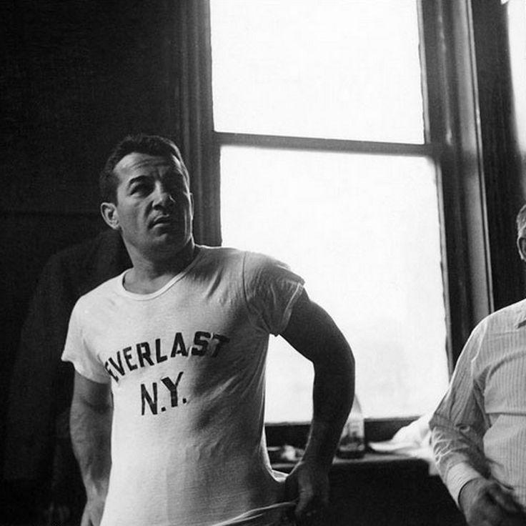 Stanley Kubrick, Rocky Graziano, from 1940s Look magazine photo essay