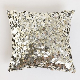 Sequin swirl pillow (urban outfitters)