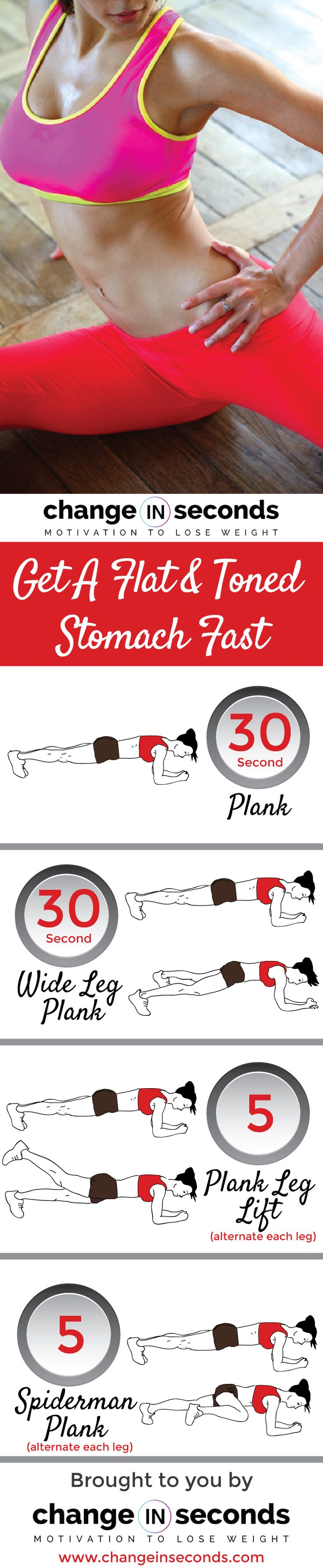 Get A Flat And Toned Stomach Fast (Download PDF)