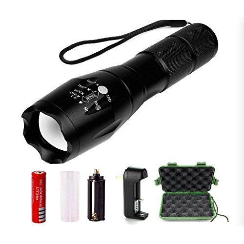 Features: CREE XM-L T6 LED Adjustable Focus Output brightness Waterproofing design 5 switch Modes: high - middle - low - strobe - sos Package: 1x CREE XM-L T6 LED Flashlight 1x Plastic tube for using ...