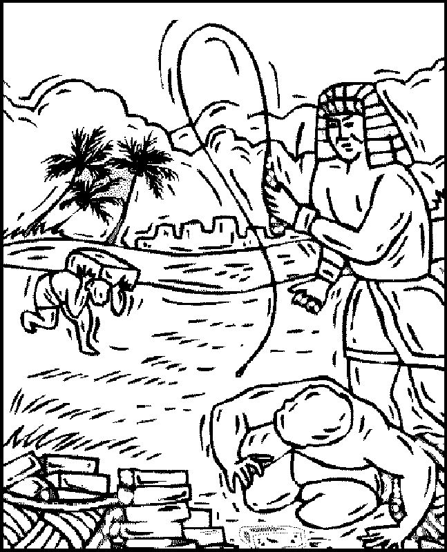 slaves in egypt coloring pages