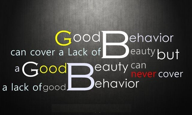 Aristotle Human Behavior Quote Posters: Good Behavior Can Cover A Lack Of Beauty*