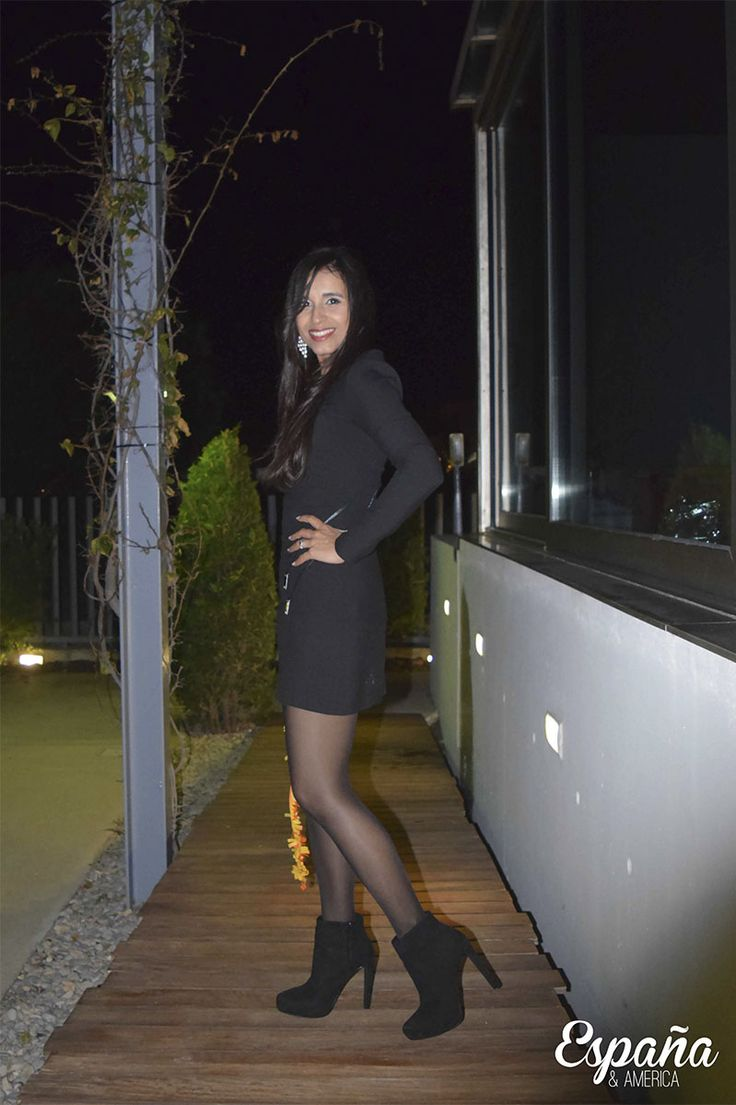 look vestido negro5 #fetishpantyhose #pantyhosefetish #legs #heels #blogger #stiletto #pantyhose #black