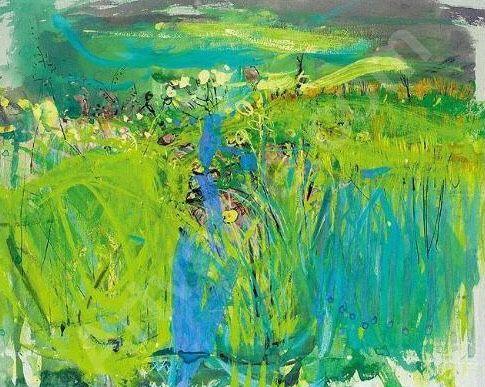 Joan Kathleen Harding Eardly (UK 1921-1963) Watery Summer Landscape