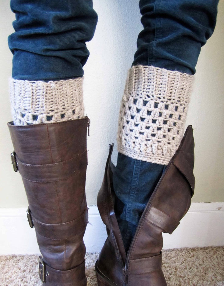 Boot cuffs, leg warmers, 100% wool. $22.50, via Etsy.
