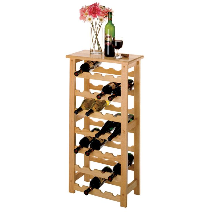 Good 28 Bottle Wine Rack In Beech