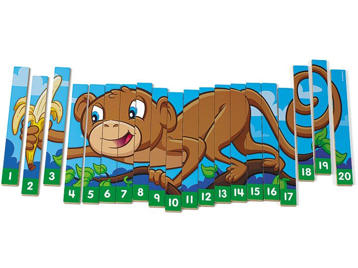 Monkey Number Sequencing Puzzle