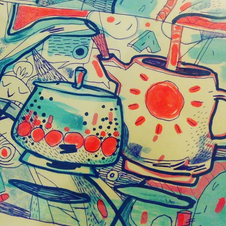 T E A #tea #can #kanne #pot #teatime  ___ #illustration #art #artist #instaart #dailyart #artoftheday #doodleartist #pen #pencil #drawing #drawings #sketch #scribble #picoftheday #sketchbook #doodle #kunst #dessin #dibujo #newartwork #instadaily