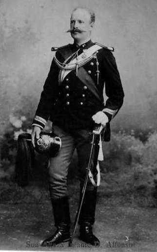 Príncipe Real D. Afonso Duque do Porto  (1865-1920). Casa Real: Bragança  Editorial: Real Lidador Portugal  Autor: Rui Miguel