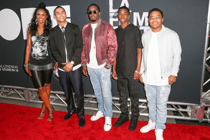 Kim Porter, actor Quincy Brown, Sean 'Diddy' Combs, Christian Combs and Justin Combs