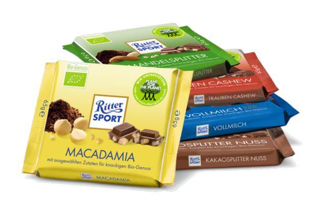 2008 - RITTER SPORT kreiert vier schokoladige Sorten aus kontrolliert  biologischem Anbau