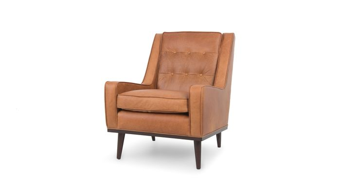 Nina Charme Tan Armchair - Lounge Chairs - Article | Modern, Mid-Century and Scandinavian Furniture