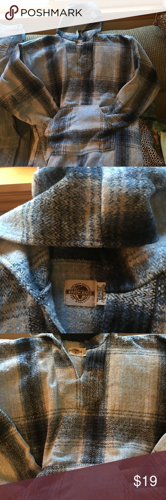 Mexican Poncho Shades of blue and gray, Mexican Poncho. Only worn a few times. Earth Ragz Other