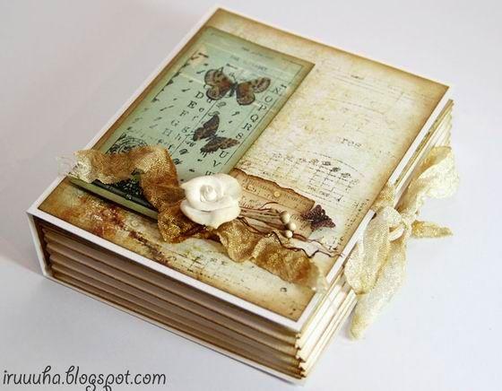 How to DIY Vintage Scrapbook Gift Box   www.FabArtDIY.com LIKE Us on Facebook ==> https://www.facebook.com/FabArtDIY