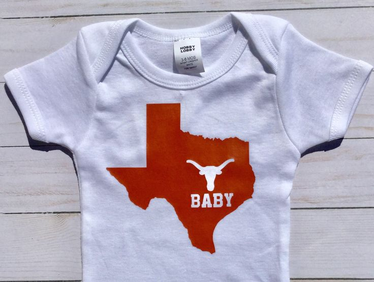 Love Texas Baby Onesie/ Texas Baby/ UT Baby/ Made in Texas/ Texas Baby Shower Gift by sunnyvilledesigns on Etsy https://www.etsy.com/listing/552883202/love-texas-baby-onesie-texas-baby-ut