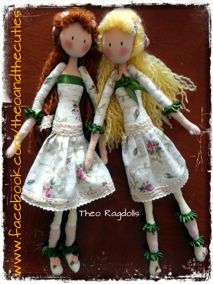 Theo Ragdolls - Charlotte and Emily Appleby (Severina's and Mimi's) Handmade Doll, Fabric Doll, Cloth Doll