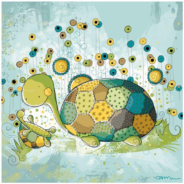 Cute little turtles by Rachelle Anne Miller
