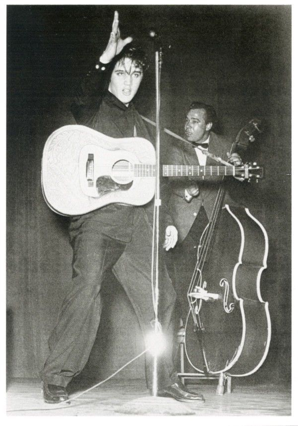 ELVIS PRESLEY POSTCARD with Guitar Live Performance Photo Rock and Roll   eBay