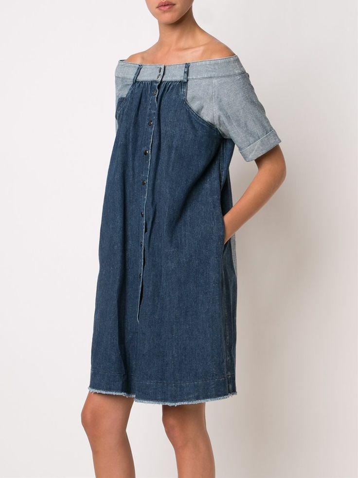 Sea джинсовое платье с открытыми плечами