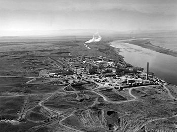 Established in 1943 as part of the Manhattan Project in the town of Hanford in south-central Washington, the site was home to the B Reactor, the first full-scale plutonium production reactor in the world. - My parents worked there during the war.