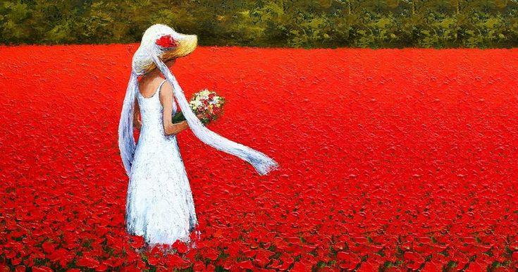 I dipinti di Dima Dmtriev rappresentano, in maniera impressionista, mondi idealizzati.