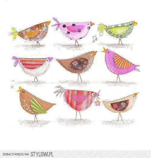 Fold a circle to make birds