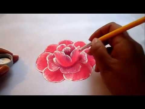 Como pintar rosas em tecido - Áudio em Espanhol