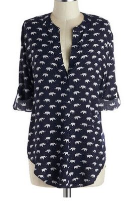 love this darling elephant print tunic - all sizes back in stock! http://rstyle.me/n/ms22inyg6