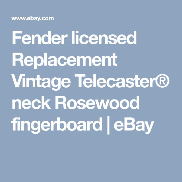 Fender licensed Replacement Vintage Telecaster® neck Rosewood fingerboard | eBay