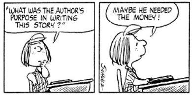 Peanuts comic on Author's Purpose!  :-)