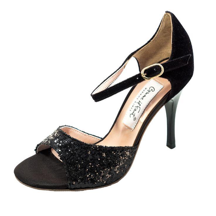 Comme il Faut Shoes Lame Negro