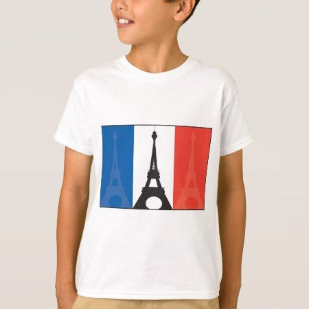 French Flag and Eiffel Tower T-Shirt - click to get yours right now!