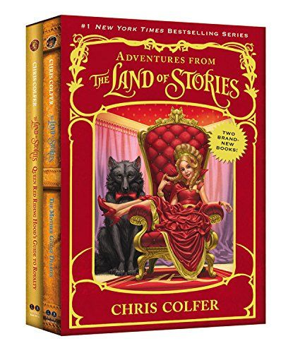 Adventures from the Land of Stories Boxed Set: The Mother Goose Diaries and Queen Red Riding Hood's Guide to Royalty by Chris Colfer http://www.amazon.com/dp/0316261513/ref=cm_sw_r_pi_dp_.OUJwb0PF2G2M