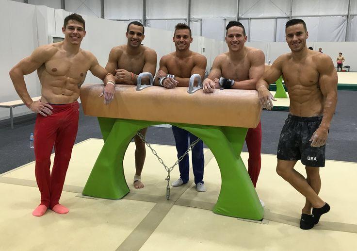 Chris Brooks, Danell Leyva, Sam Mikulak, Mark Williams and Jake Dalton