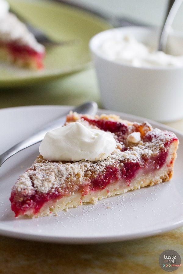 Pear and Raspberry Tart