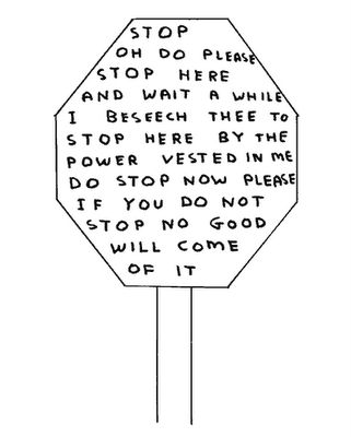 David Shrigley - A Child-Like Logic Artist #inspiration #writing #rough