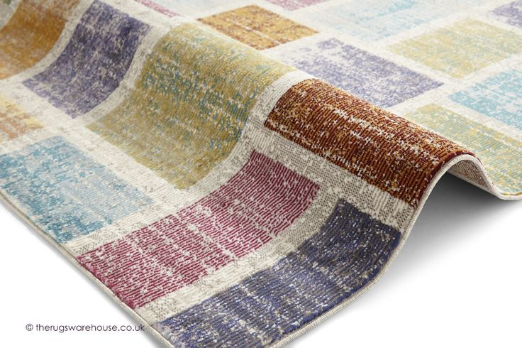 NEW: Serca Rug (texture close up), a modern versatile & easy to maintain synthetic rug with a colourful geometric design (machine-woven, 100% polypropylene, 3 sizes) http://www.therugswarehouse.co.uk/modern-rugs3/sixteenth-avenue-rugs/serca-rug.html