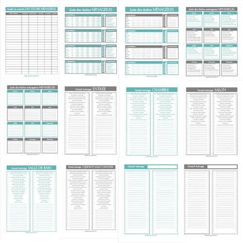 #organisation #enfrançais Le kit Maison propre 12 Listes de tâches par MademoiselleListe, $12,00