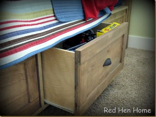 Red Hen Home - under bed storage project