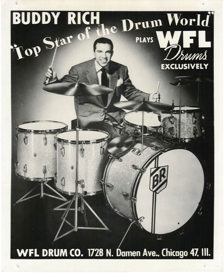 Buddy Rich, master of jazz drumming. Many consider him the best drummer who ever lived.